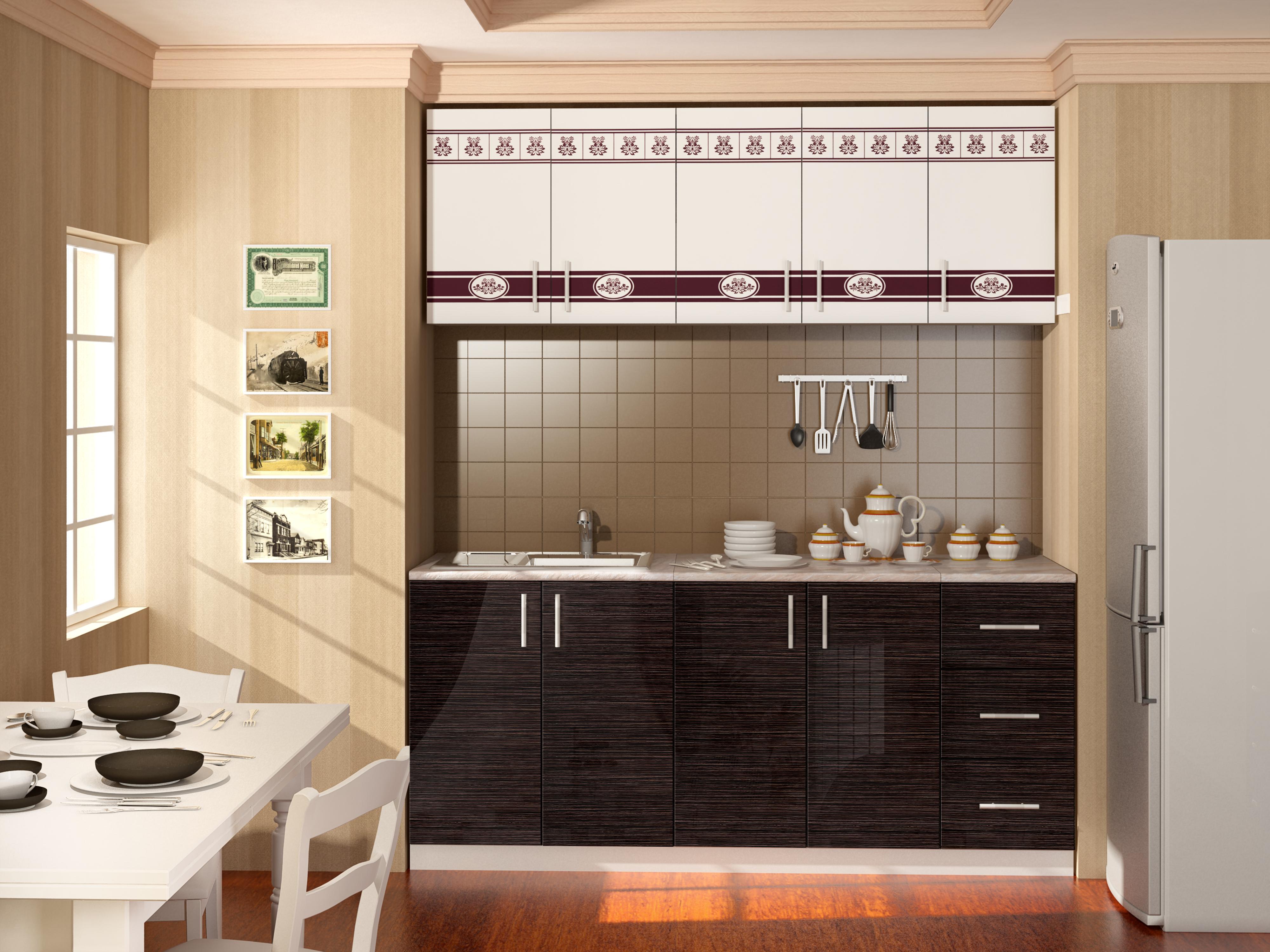 схема сборки двух метровой кухни